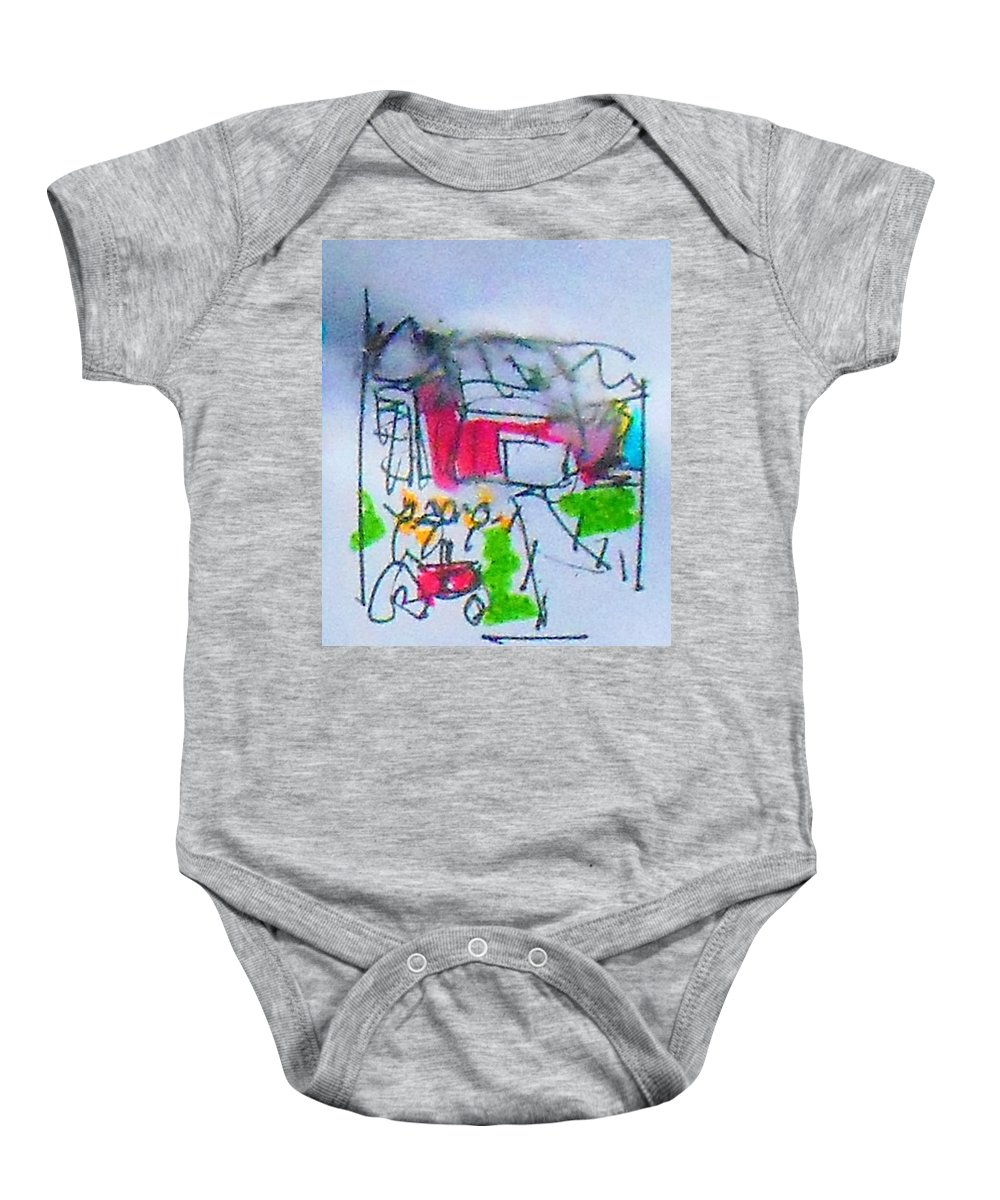 Farm Baby Onesie featuring the mixed media Sublime Storm by Samuel Zylstra