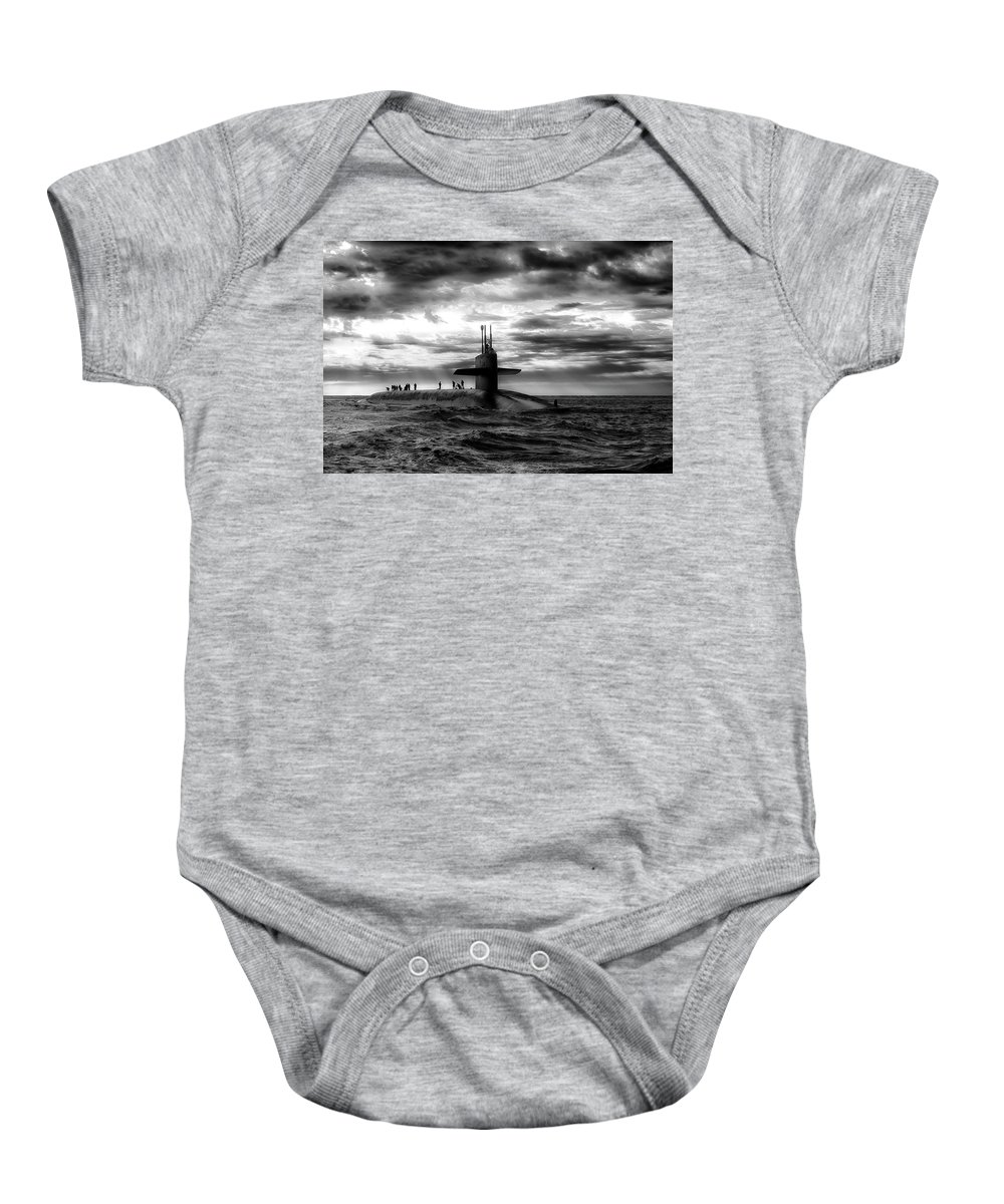 Sub Baby Onesie featuring the photograph Submariner by Daniel Hagerman