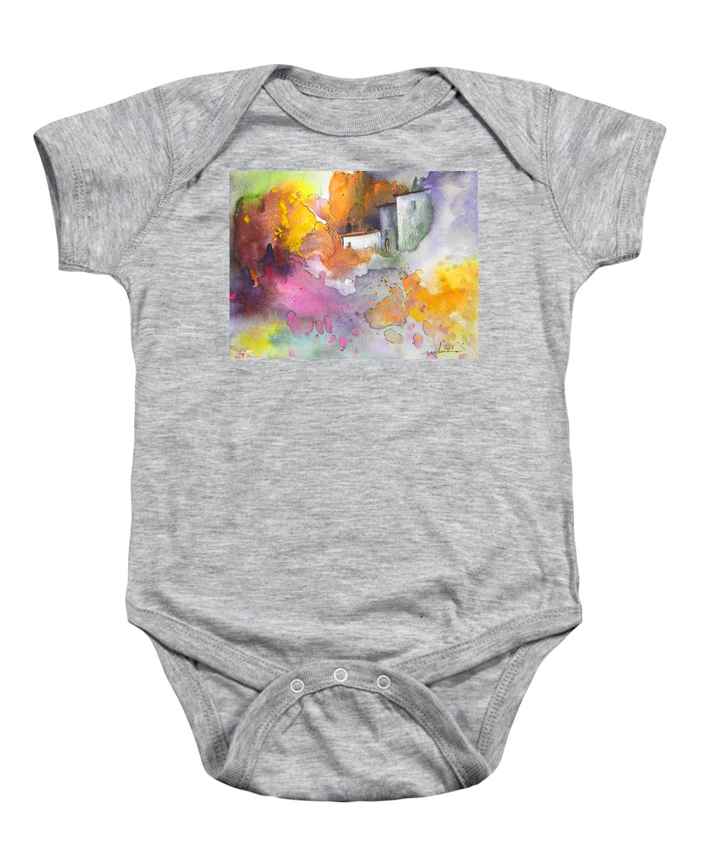 Art Miki Baby Onesie featuring the painting Summer Afternnon 03 by Miki De Goodaboom