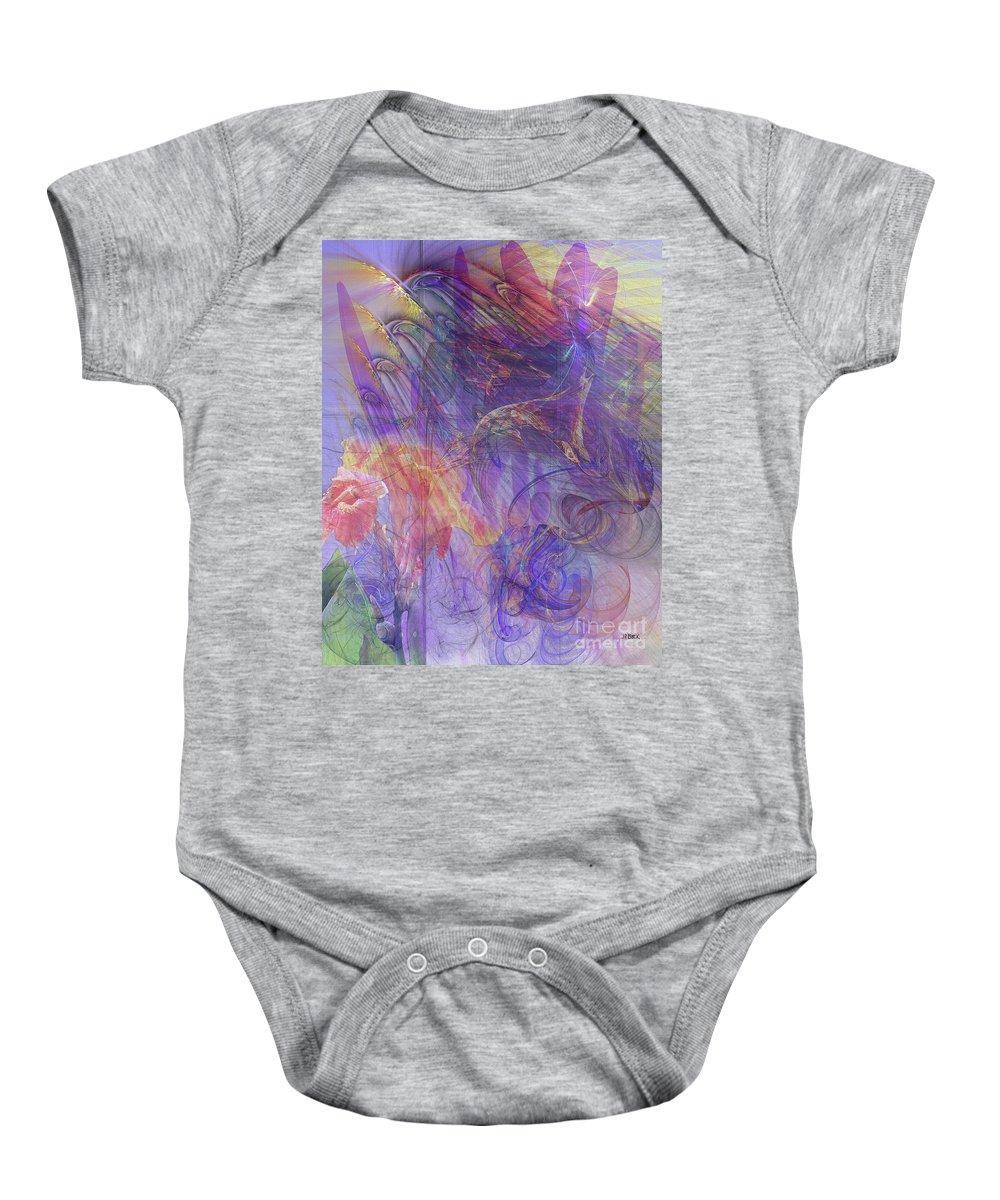 Summer Awakes Baby Onesie featuring the digital art Summer Awakes by John Beck