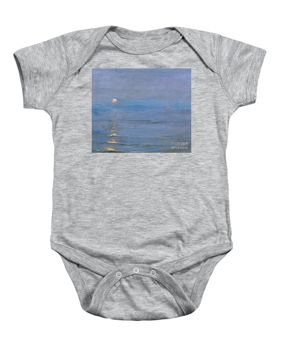 Summer Evening Baby Onesie featuring the painting Summer Evening by PS Kroyer
