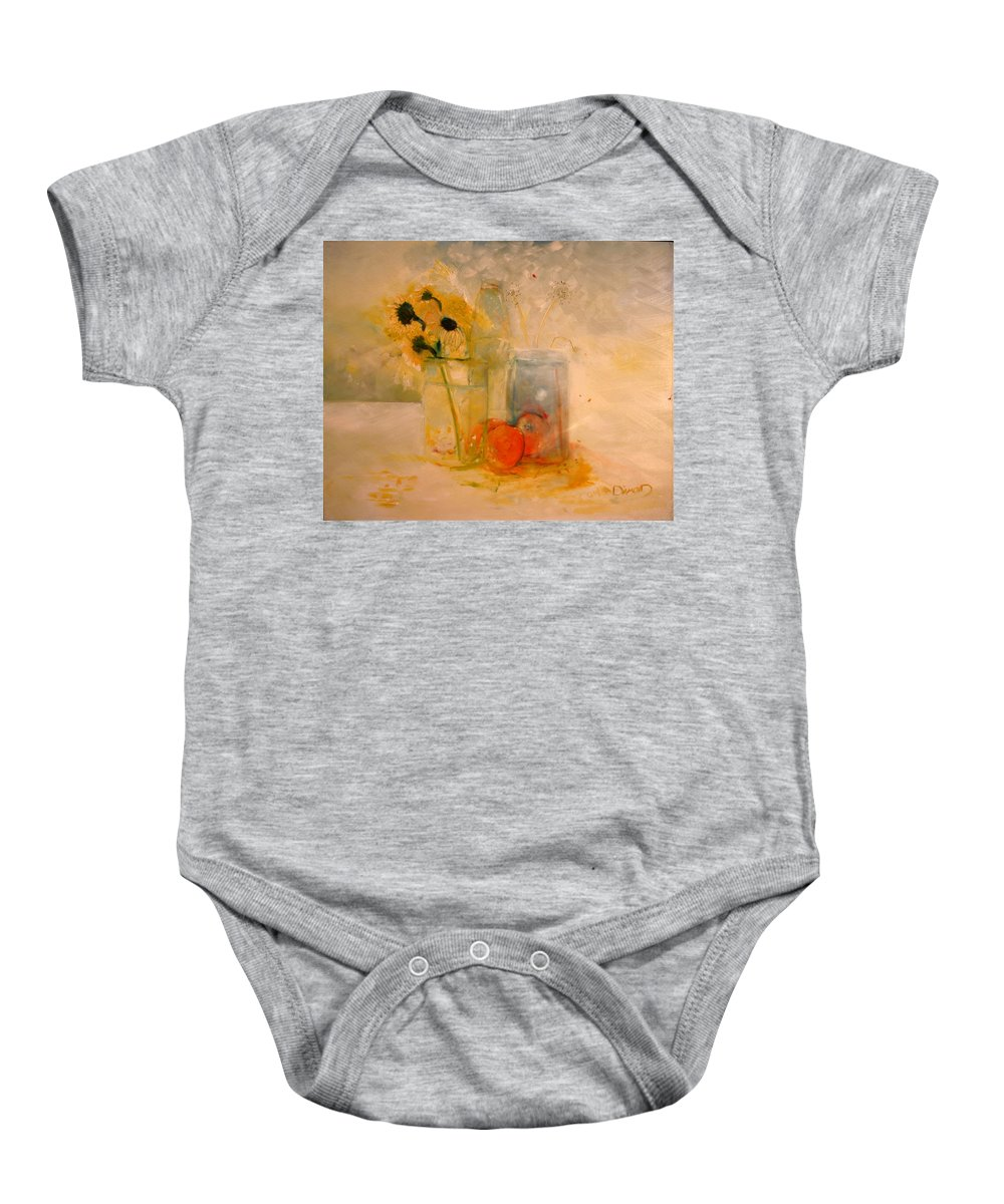 Daisey Baby Onesie featuring the painting Summer Light by Jack Diamond