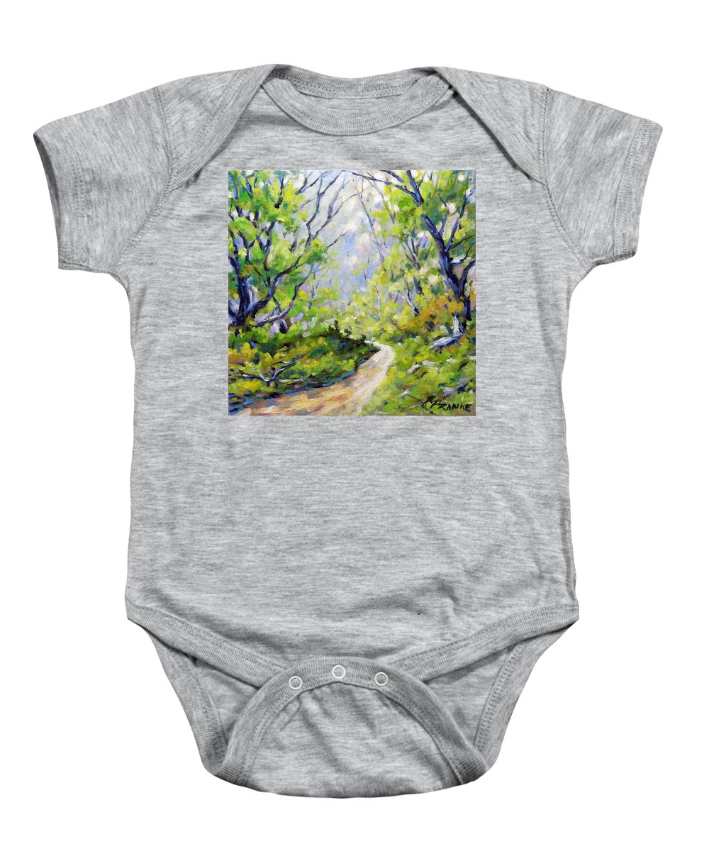 Art Baby Onesie featuring the painting Summer Lights by Richard T Pranke