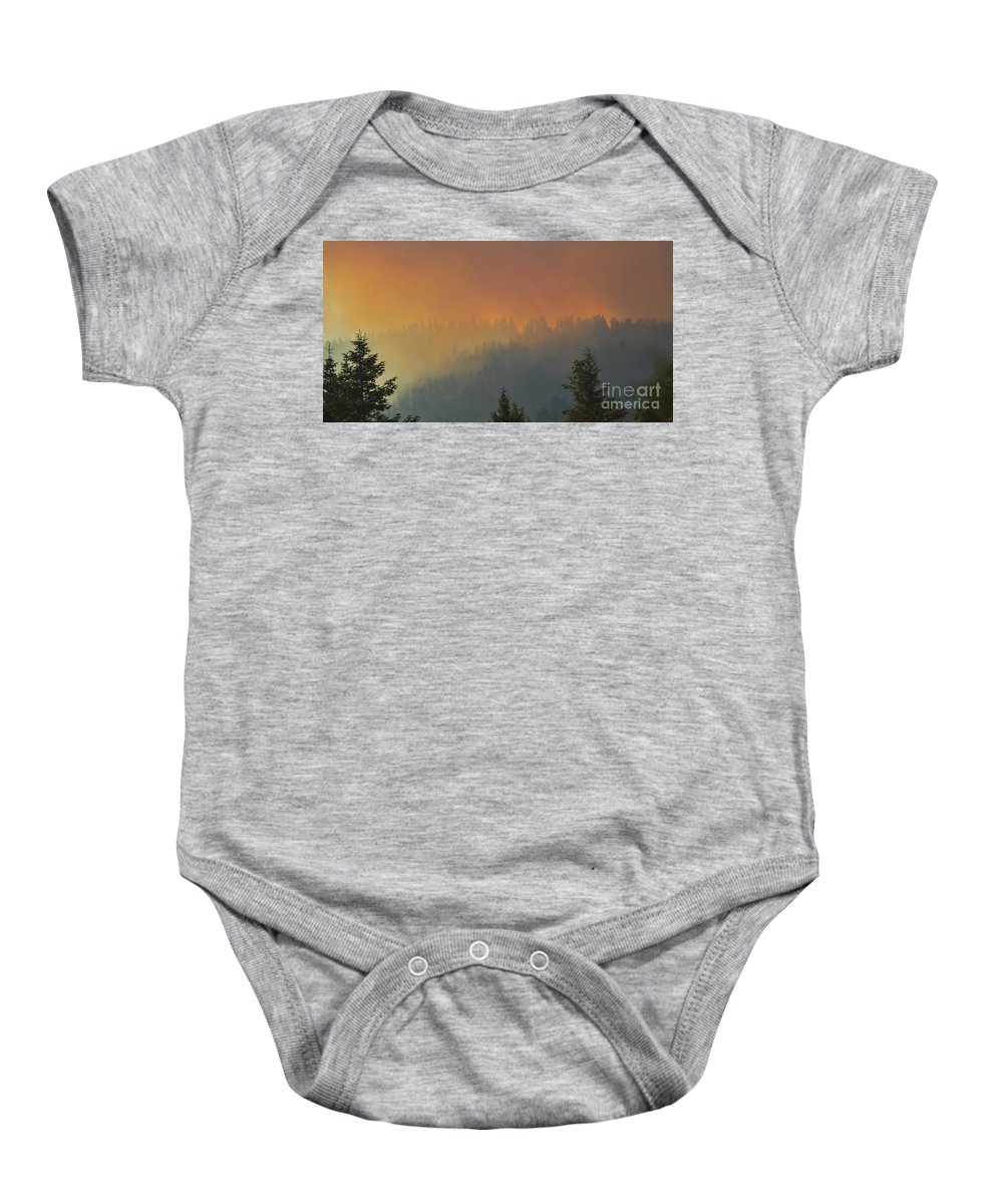 Fire Baby Onesie featuring the photograph Summer Of '15 by Joy McAdams