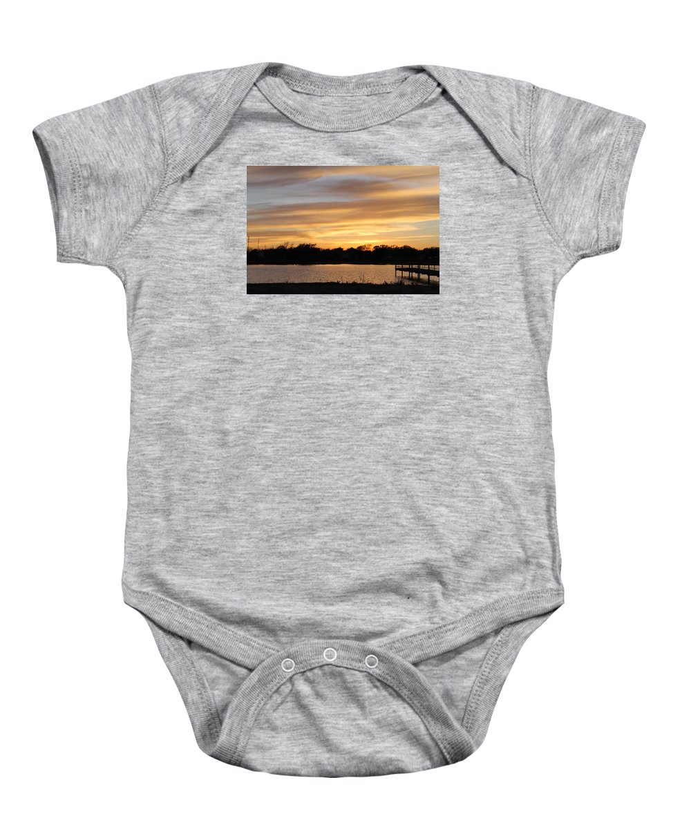 Sun Baby Onesie featuring the photograph Summer Sunset by Deven Birdwell
