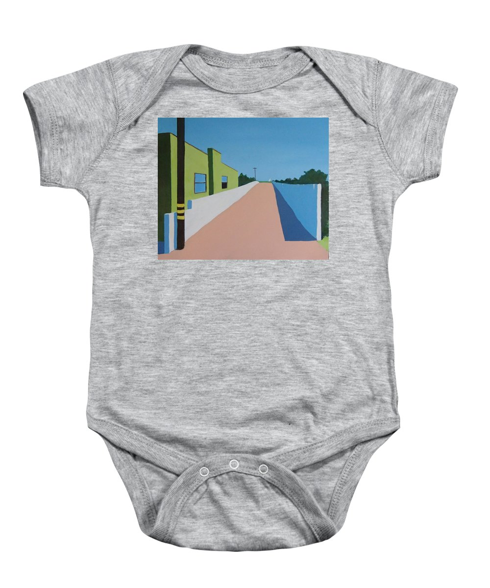 Summerland Baby Onesie featuring the painting Summerland by Philip Fleischer