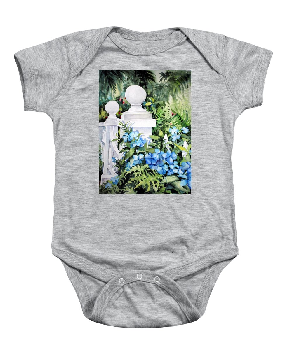 Gates Baby Onesie featuring the painting Summer's Delight by Michael Pearson