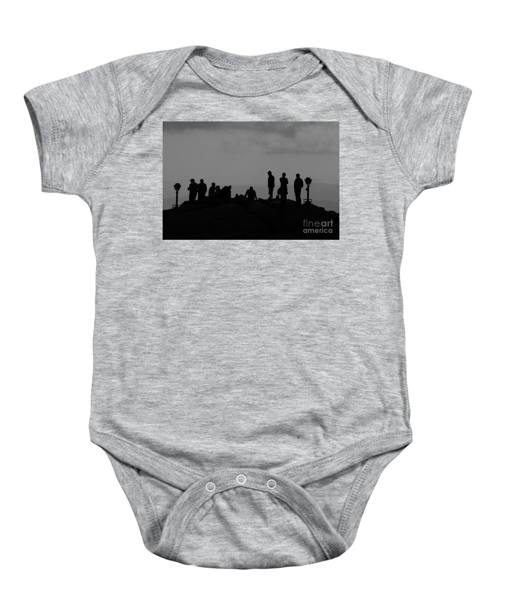 Summit Baby Onesie featuring the photograph Summit People by David Lee Thompson