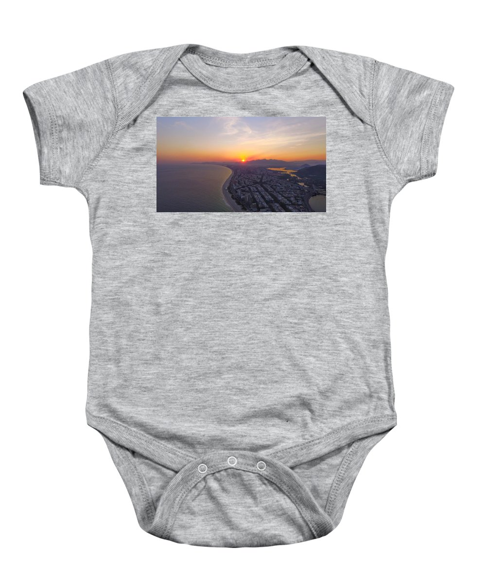 Beach Baby Onesie featuring the photograph Sumset Rio De Janeiro by Victor Aune