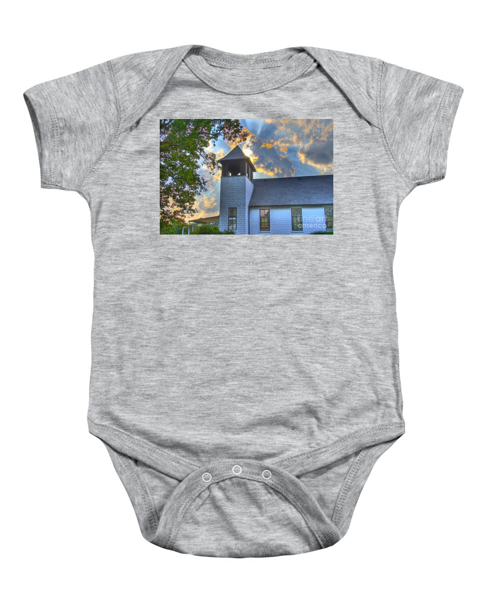 Son Baby Onesie featuring the photograph Sun Beams-3 by Robert Pearson