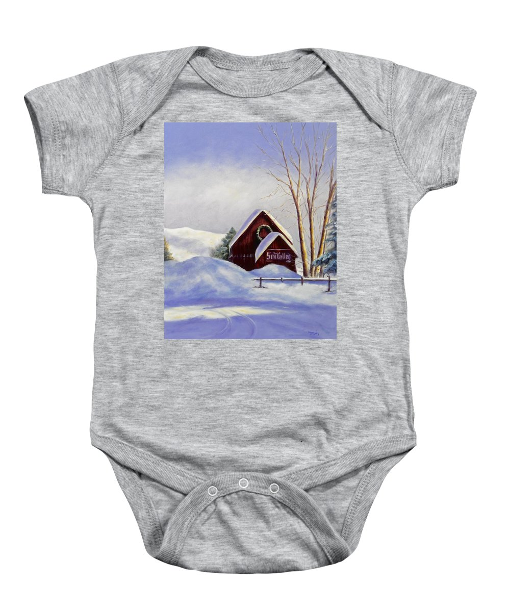 Landscape Baby Onesie featuring the painting Sun Valley 2 by Shannon Grissom