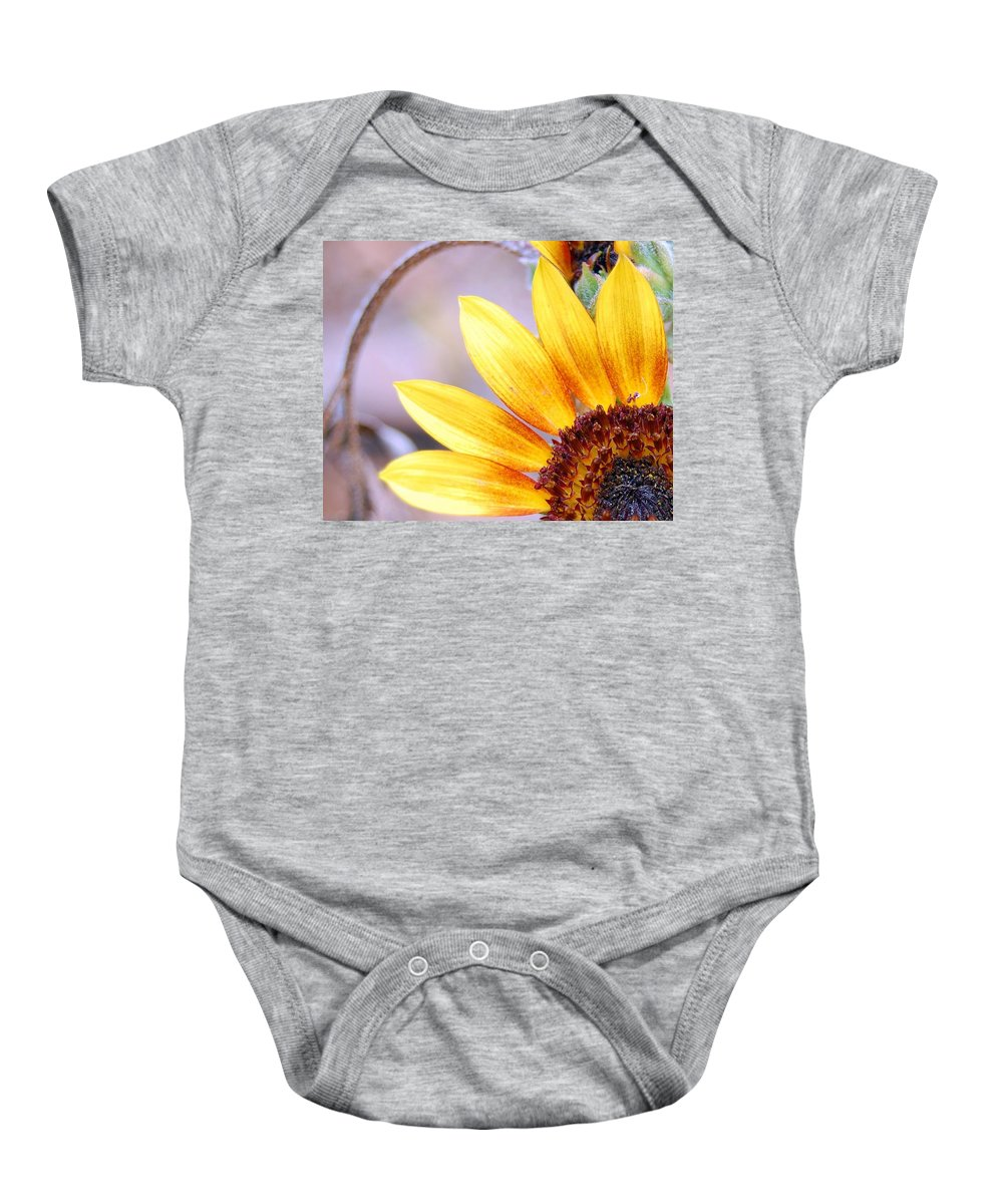 Sunflower Baby Onesie featuring the photograph Sunflower Perspective by Amy Fose