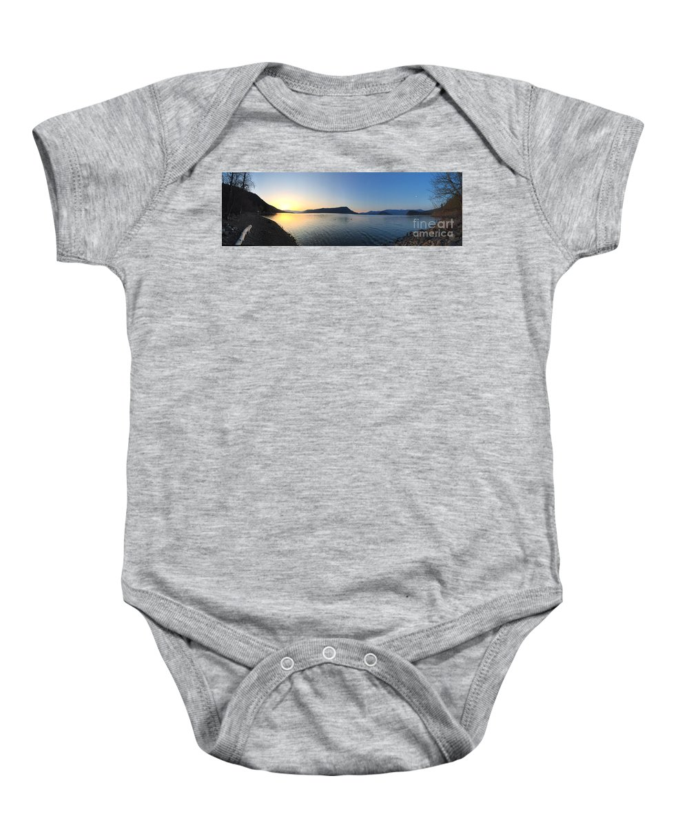 Sunrise Baby Onesie featuring the photograph Sunrise At Celista by Victor K