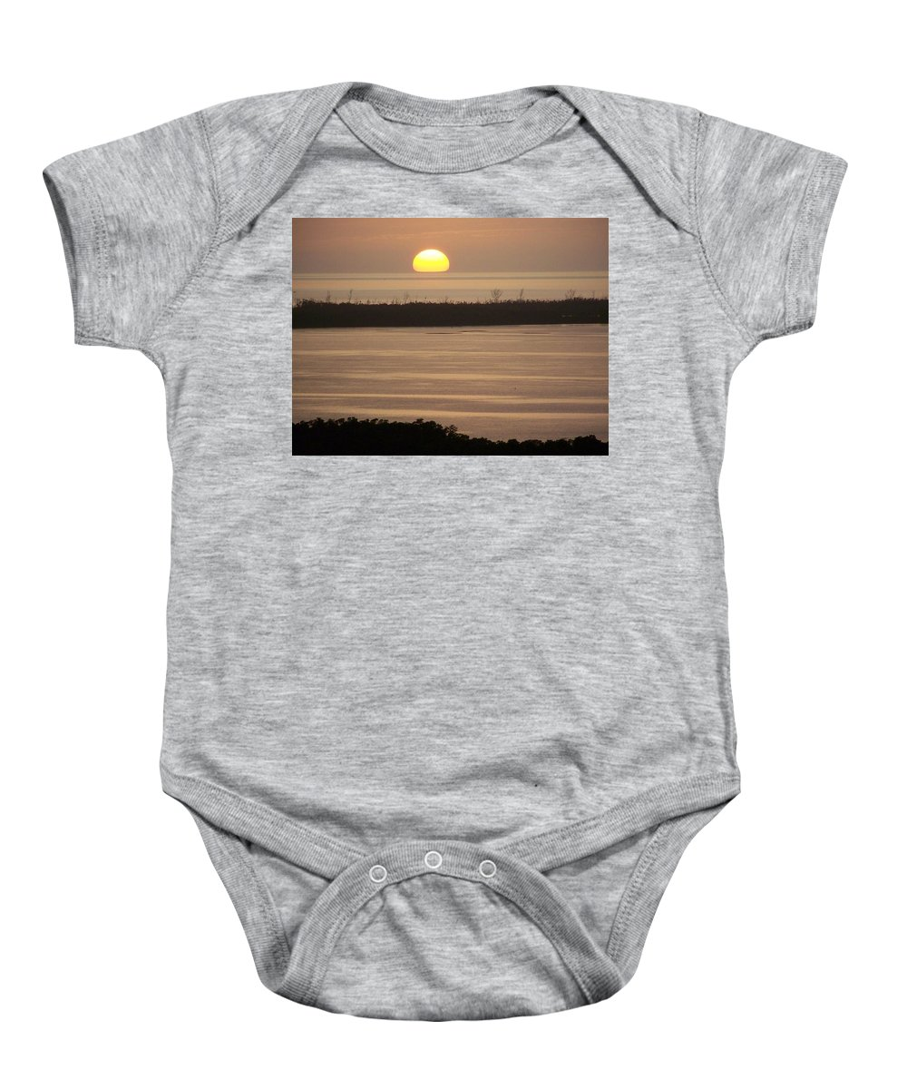 Sunset Baby Onesie featuring the photograph Sunset 0022 by Laurie Paci