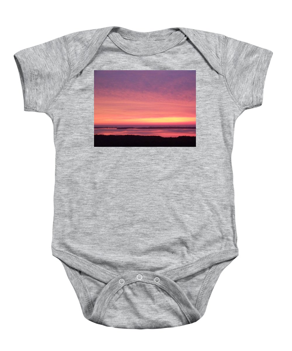 Sunset Baby Onesie featuring the photograph Sunset 0029 by Laurie Paci