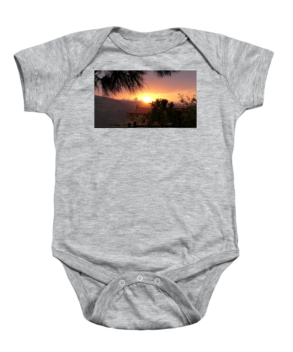 Sunset Baby Onesie featuring the photograph Sunset Over Bcharre, Lebanon by MCWorldEnt