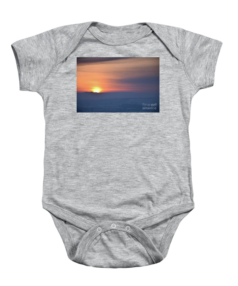 Sunset Baby Onesie featuring the photograph Sunset Time by Camelia C