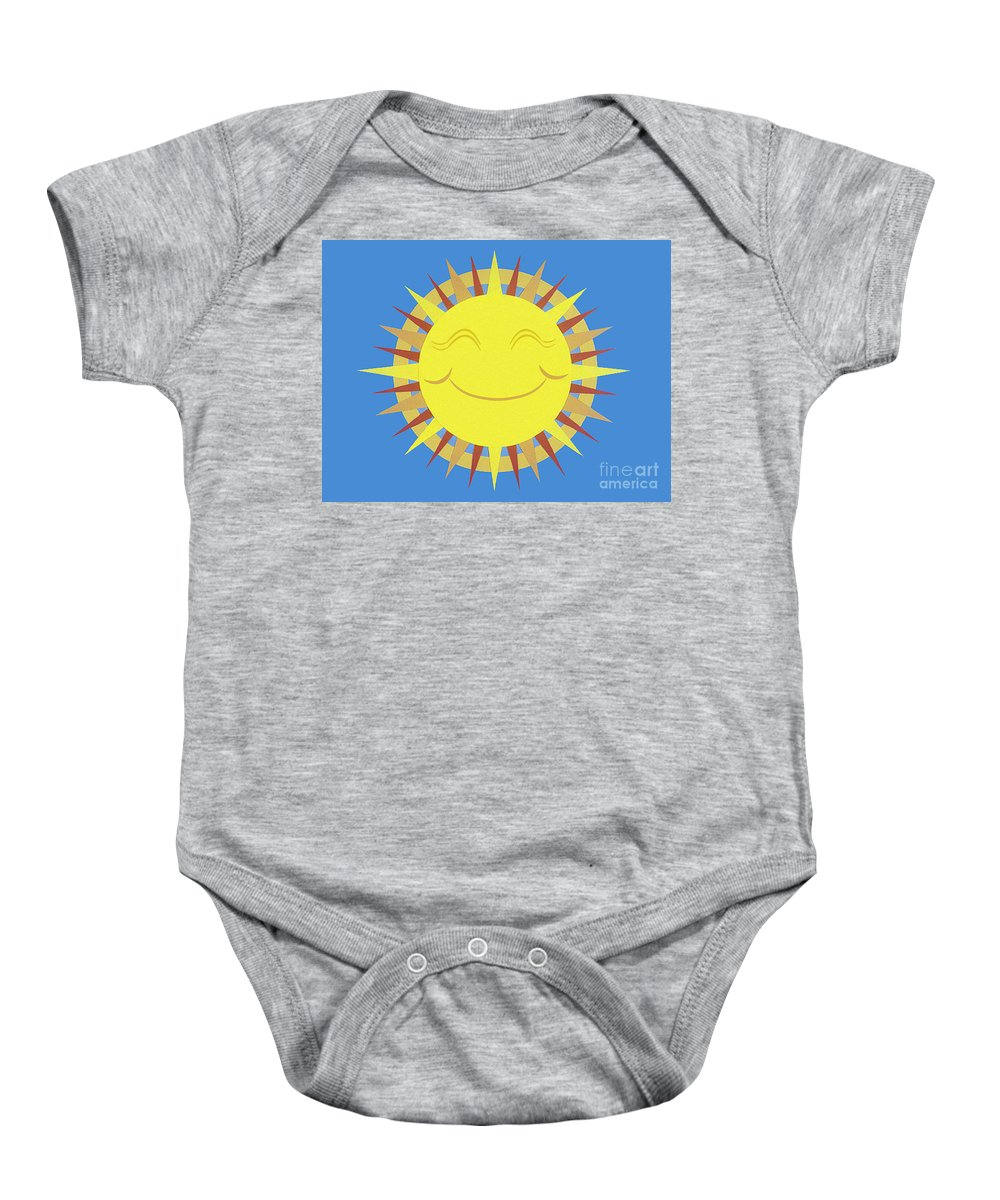 Nature Baby Onesie featuring the drawing Sunshine by Lucyna A M Green