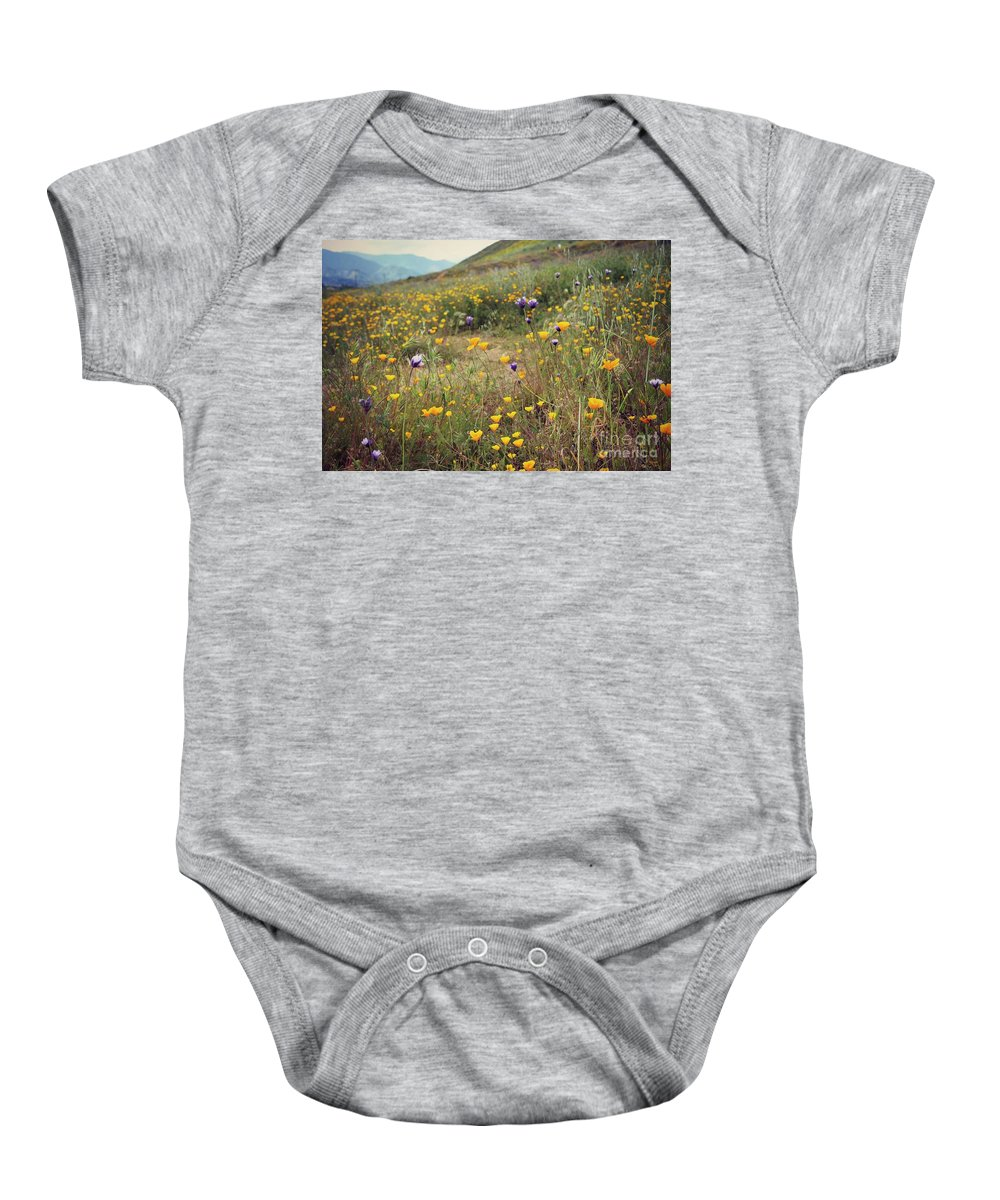 Super Bloom Baby Onesie featuring the photograph Super Bloom by Kiana Carr