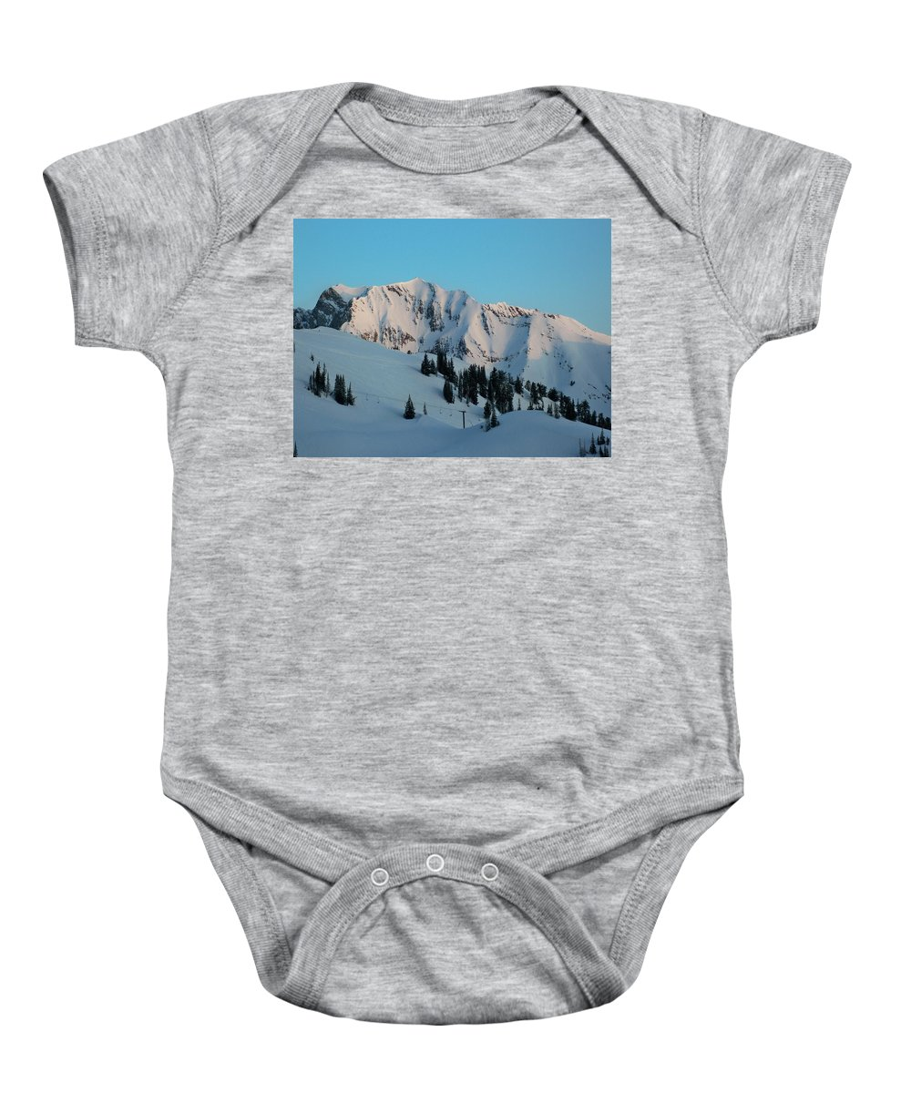 Ski Baby Onesie featuring the photograph Superior Sunrise by Michael Cuozzo