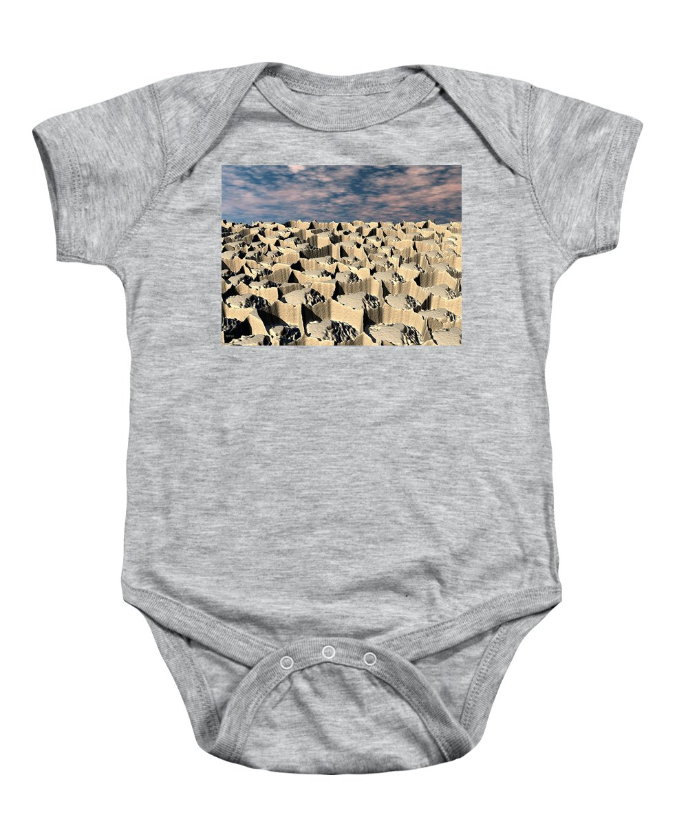 Sci Fi Baby Onesie featuring the digital art Surface Of Another World by Phil Perkins