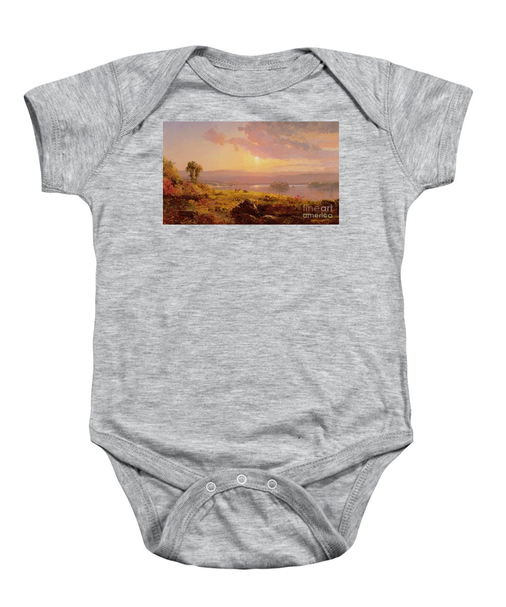 Susquehanna River Baby Onesie featuring the painting Susquehanna River by Jasper Francis Cropsey