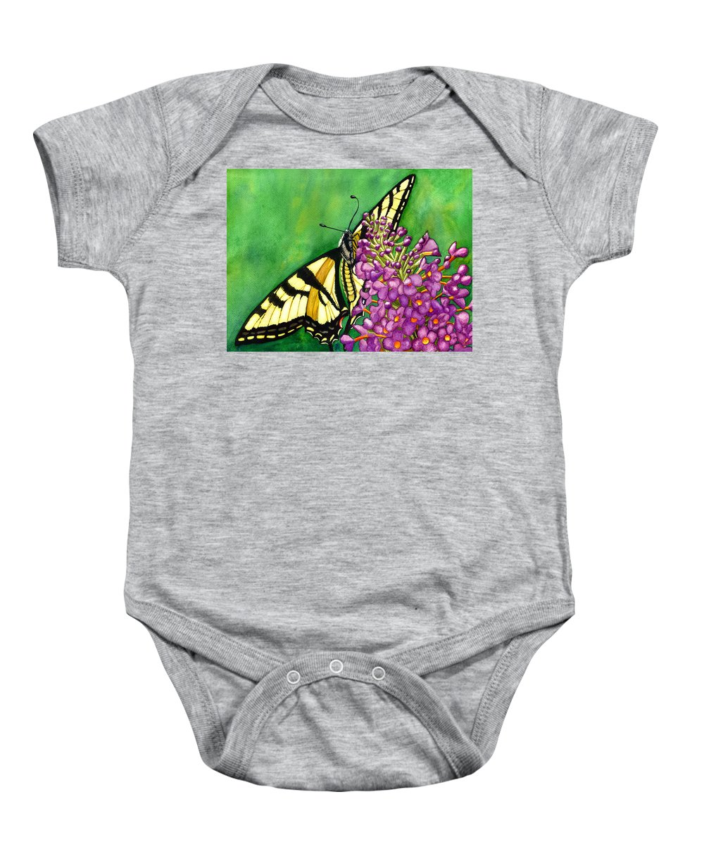 Butterfly Baby Onesie featuring the painting Swallowtail 1 by Catherine G McElroy