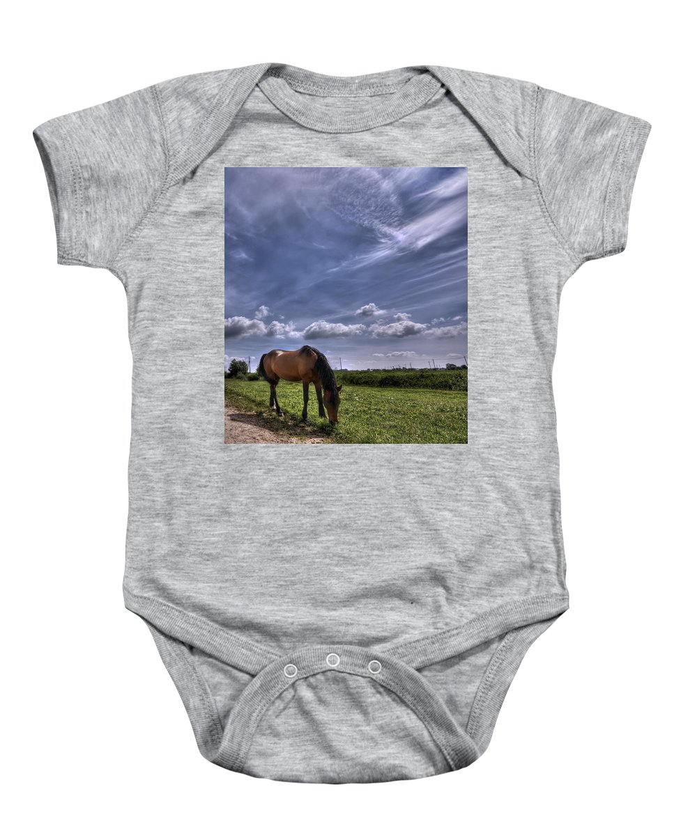 Cloud Baby Onesie featuring the photograph Sweet Country Scents by Evelina Kremsdorf