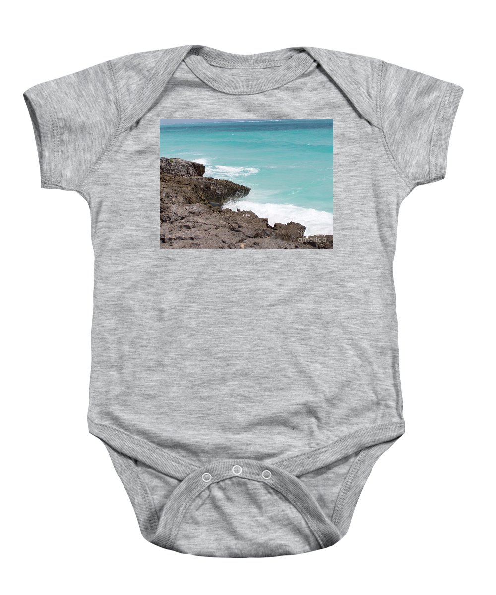 Water Baby Onesie featuring the photograph Sweet Saltyness by Amanda Barcon