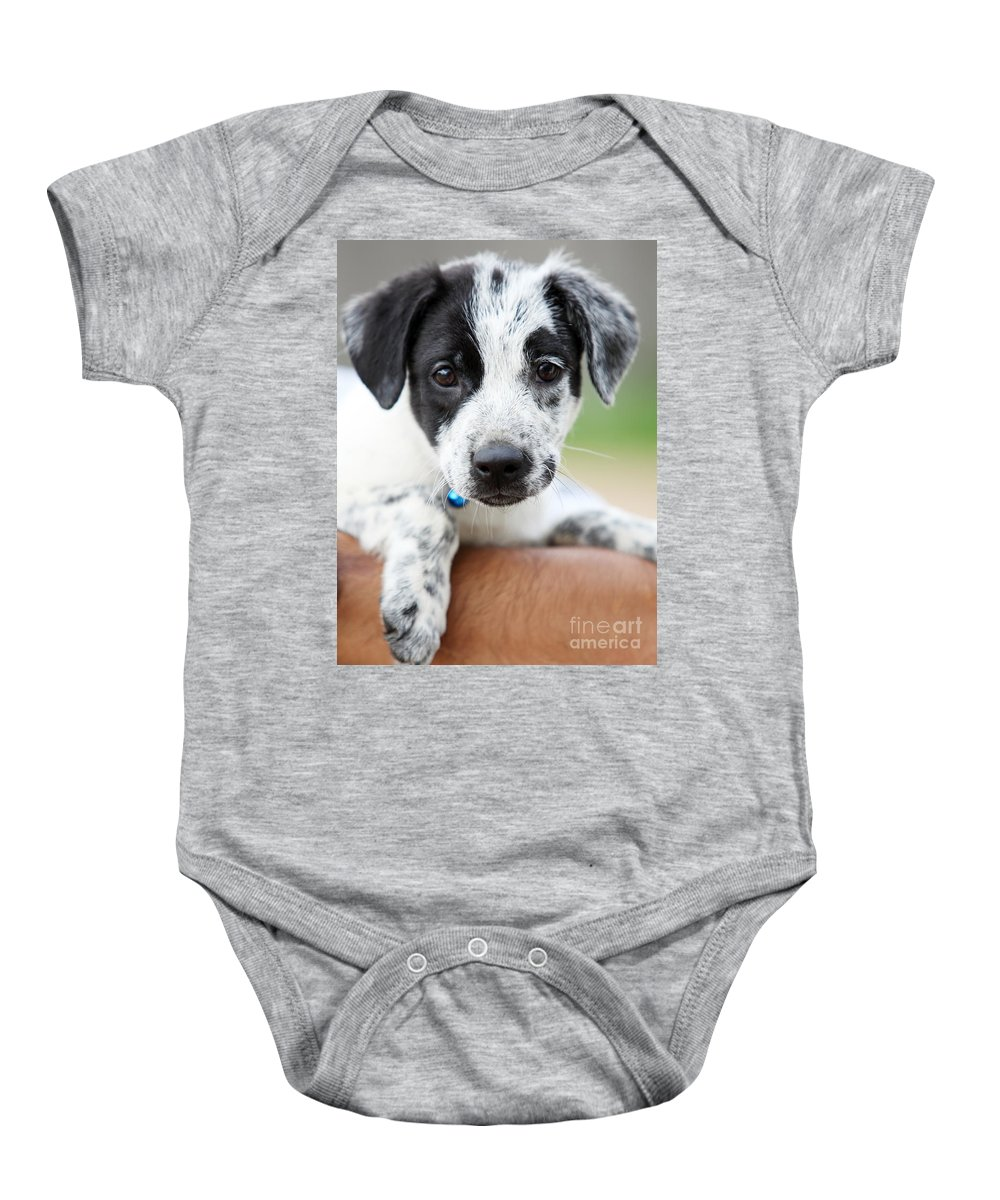 Puppy Baby Onesie featuring the photograph Sweetness by Amanda Barcon