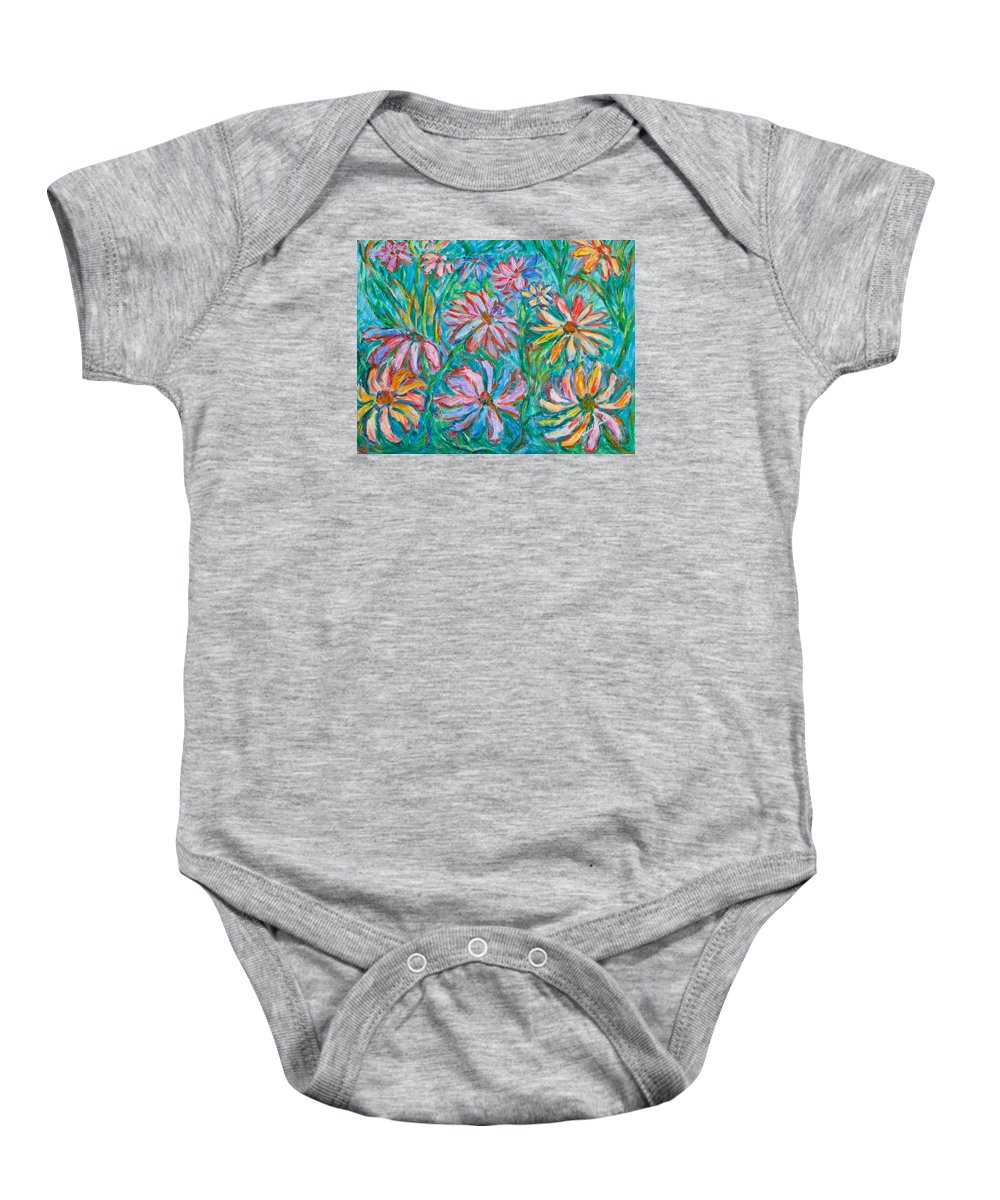 Impressionist Baby Onesie featuring the painting Swirling Color by Kendall Kessler