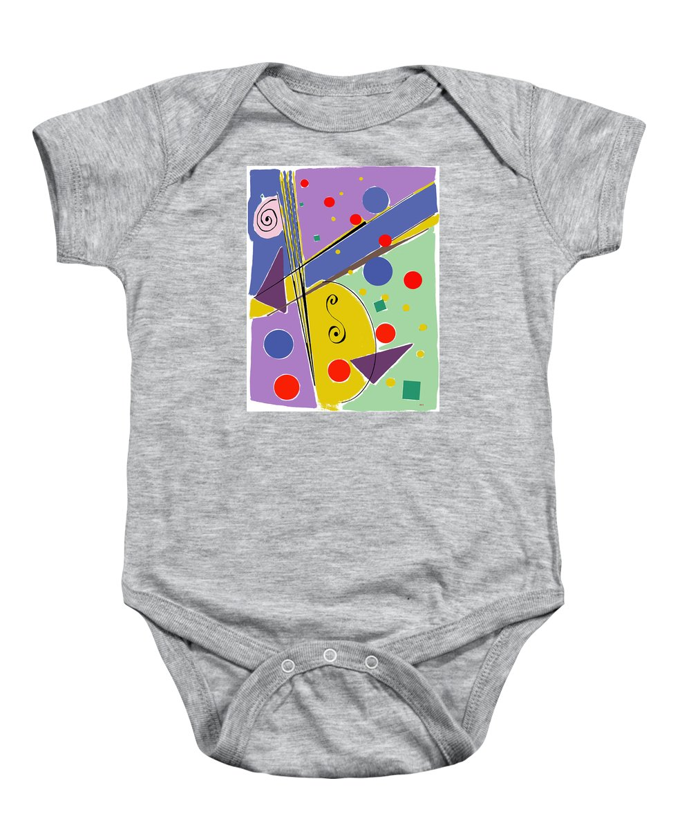 Abstract Baby Onesie featuring the digital art Syncopated Rhythm by Lois Boyce