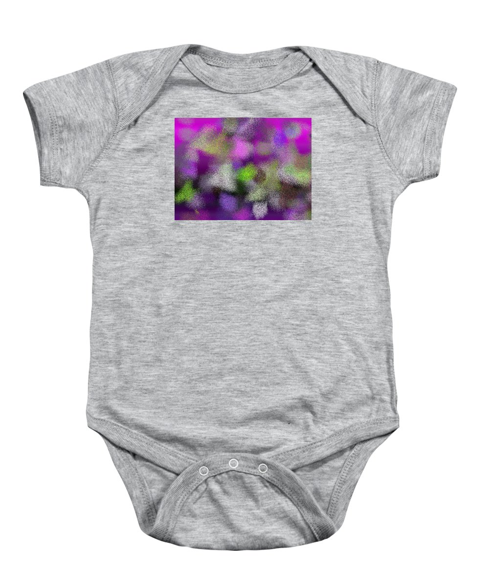 Abstract Baby Onesie featuring the digital art T.1.1657.104.4x3.5120x3840 by Gareth Lewis