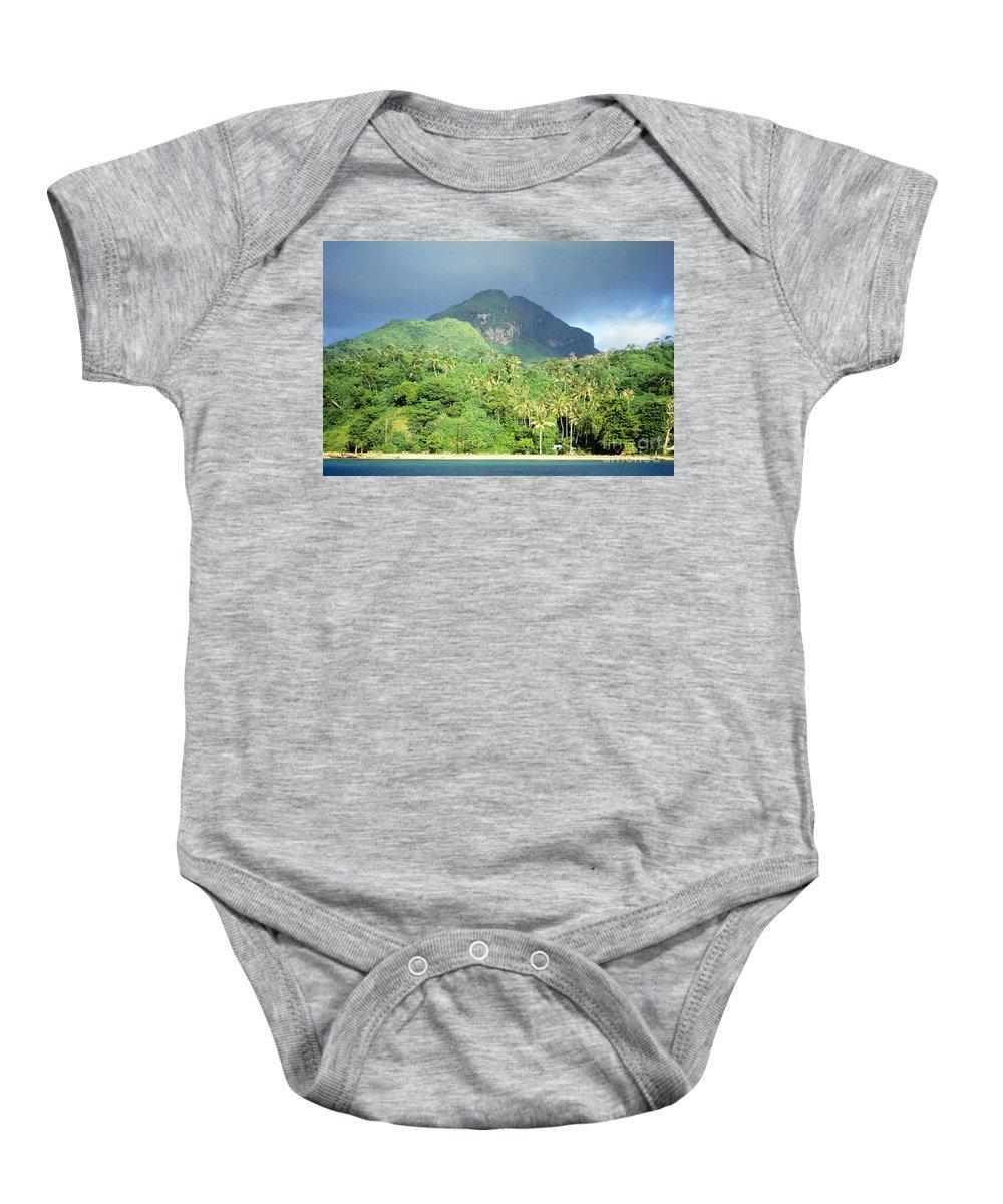 Across Baby Onesie featuring the photograph Tahiti by Rita Ariyoshi - Printscapes