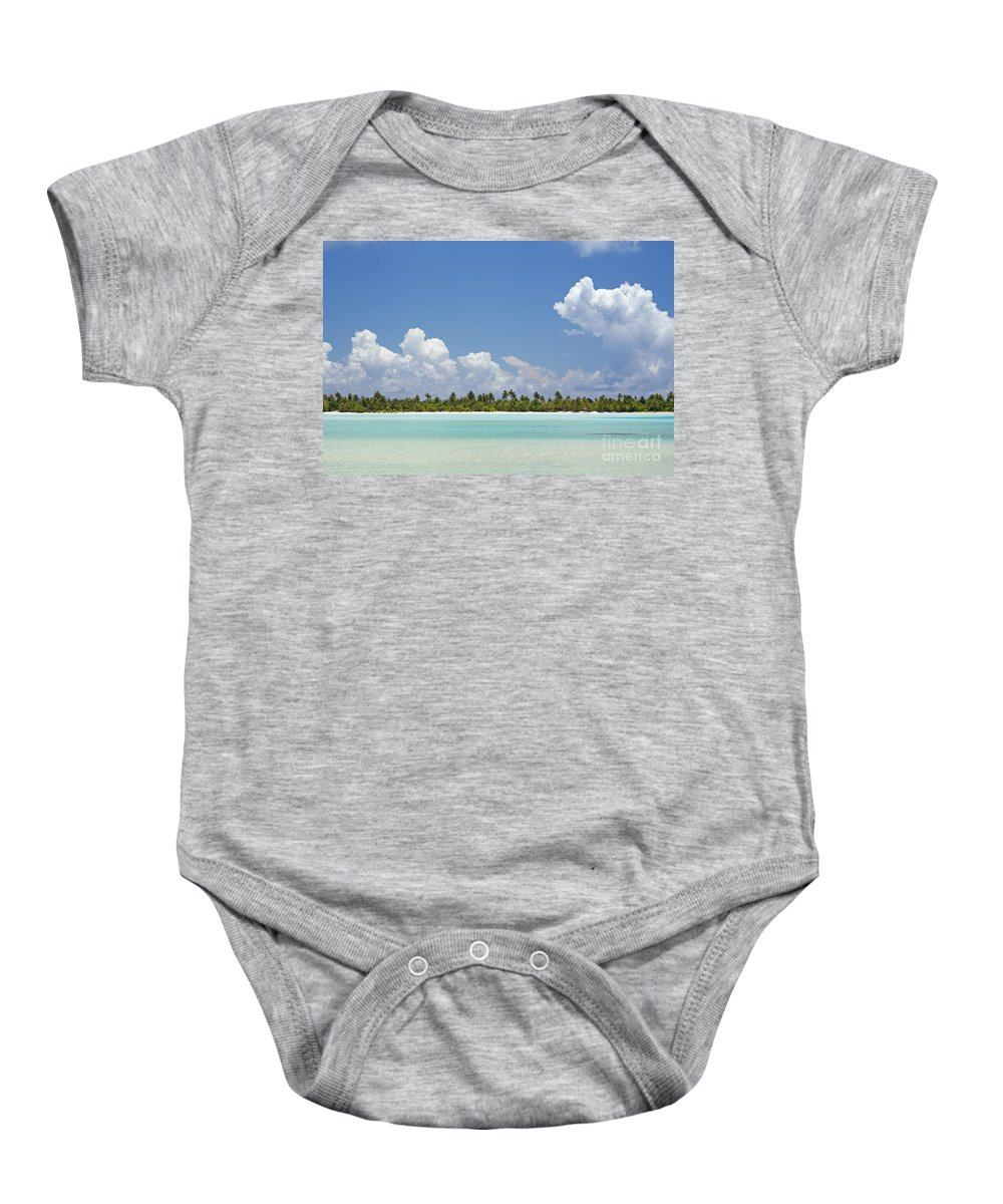 Beach Baby Onesie featuring the photograph Tahitian Lagoon by Kyle Rothenborg - Printscapes
