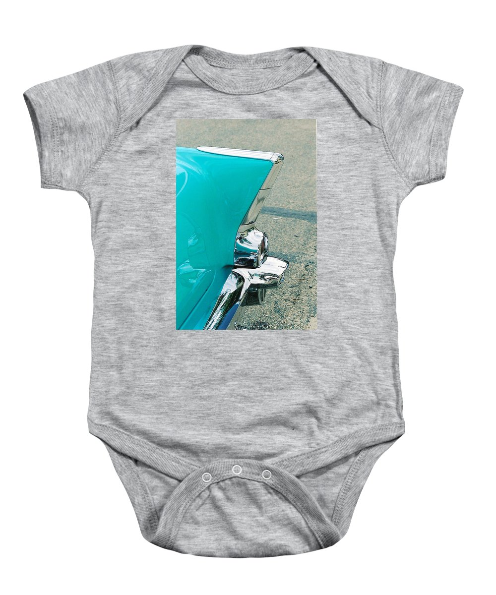 Tail Fin Baby Onesie featuring the photograph Tail Fin by Lauri Novak