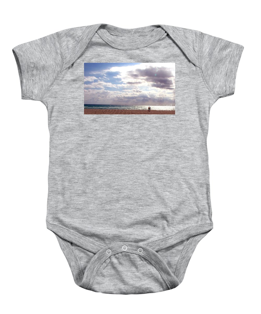 Walking Baby Onesie featuring the photograph Taking A Walk by Amanda Barcon