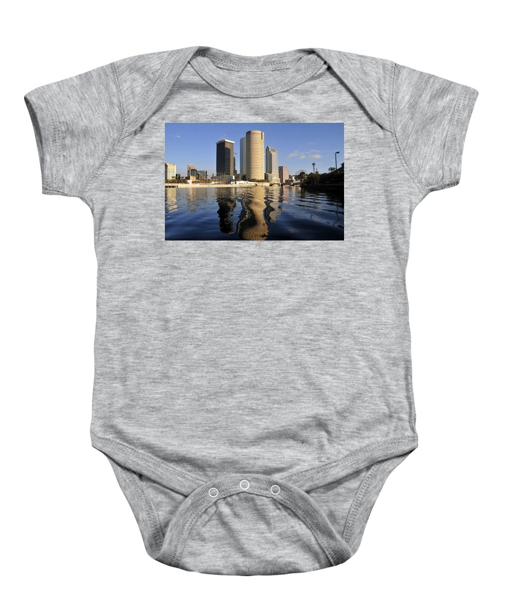 Tampa Bay Florida Baby Onesie featuring the photograph Tampa Florida 2010 by David Lee Thompson