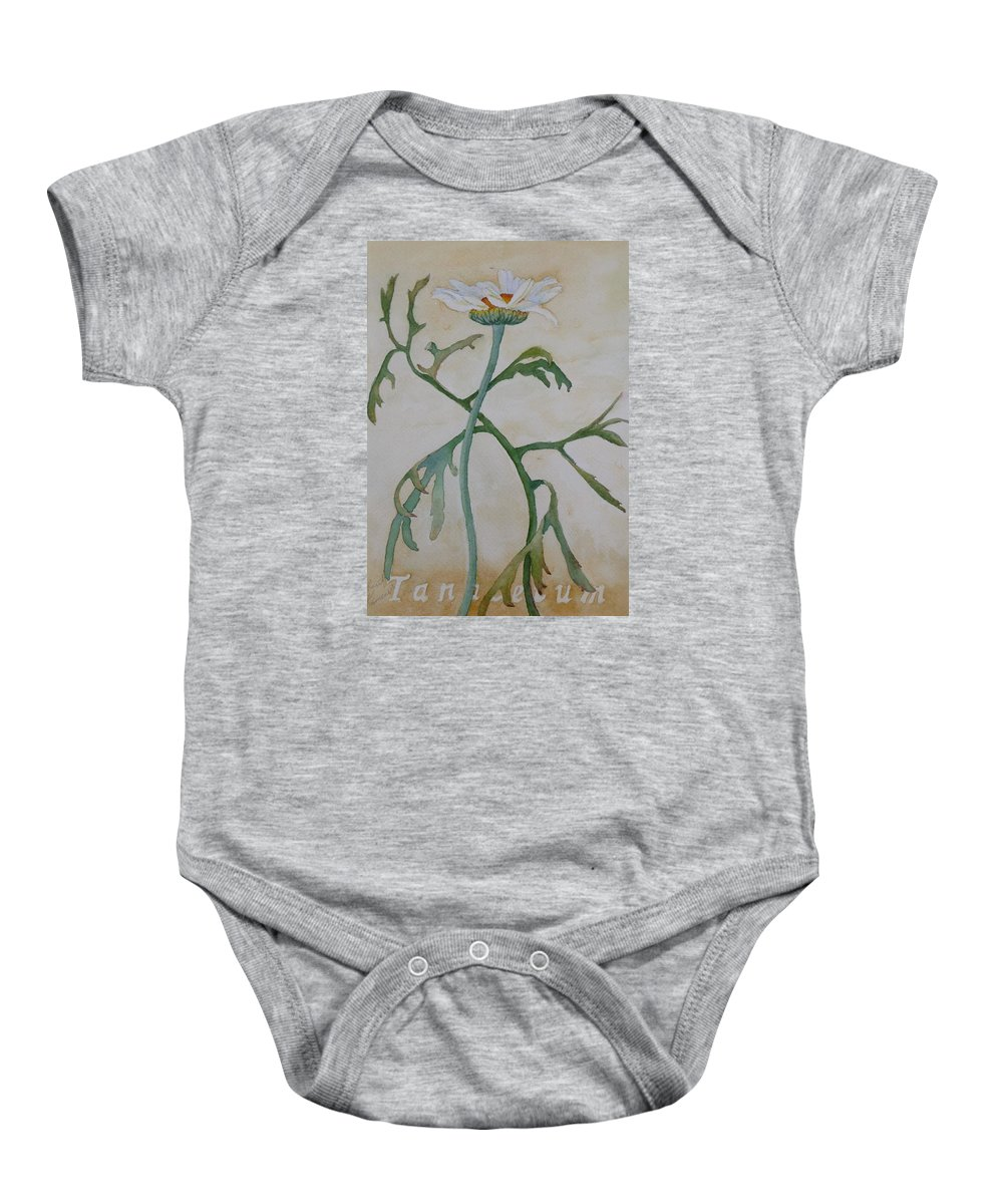 Flower Baby Onesie featuring the painting Tanacetum by Ruth Kamenev