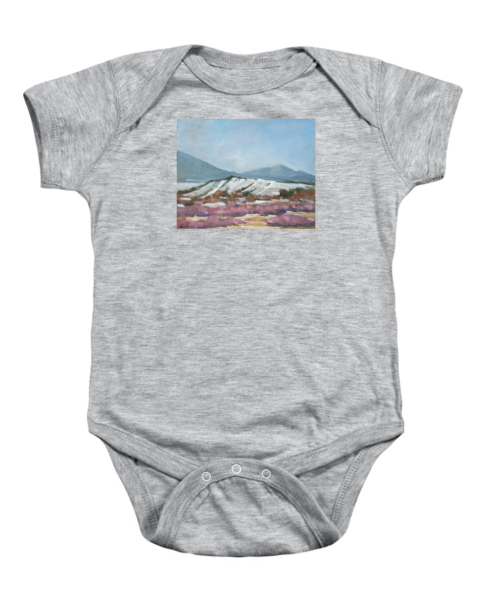 Taos Baby Onesie featuring the painting Taos Red Willows by Robert James Hacunda