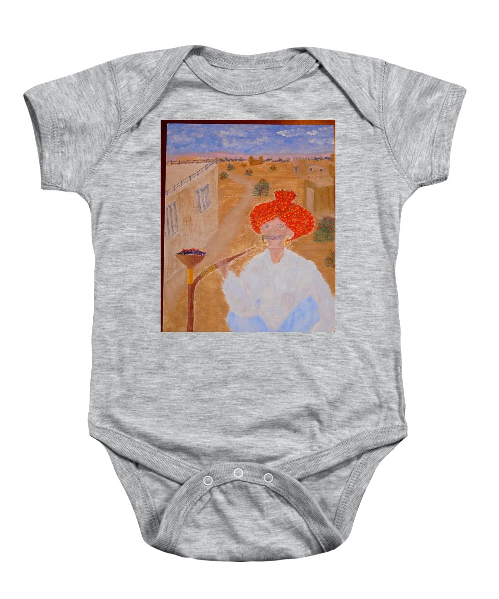 People Baby Onesie featuring the painting Tau by R B