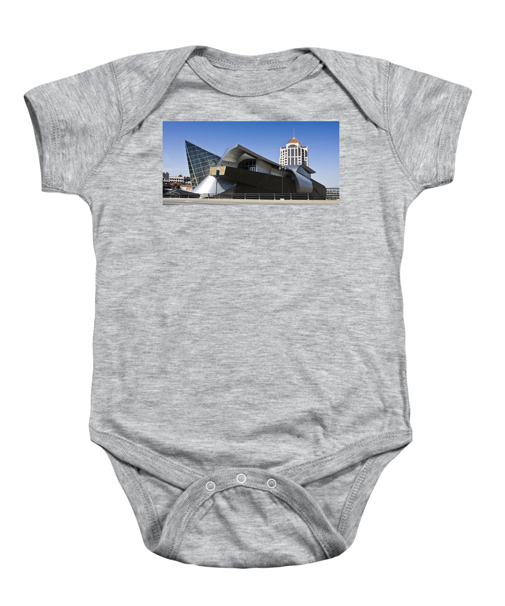 Roanoke Baby Onesie featuring the photograph Taubman And Tower Roanoke Virginia by Teresa Mucha