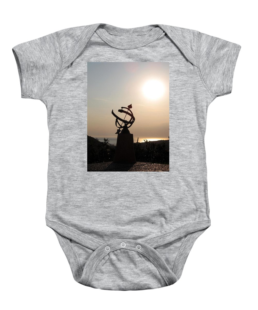 Sun Set Baby Onesie featuring the photograph tempus fugit I by Dragica Micki Fortuna