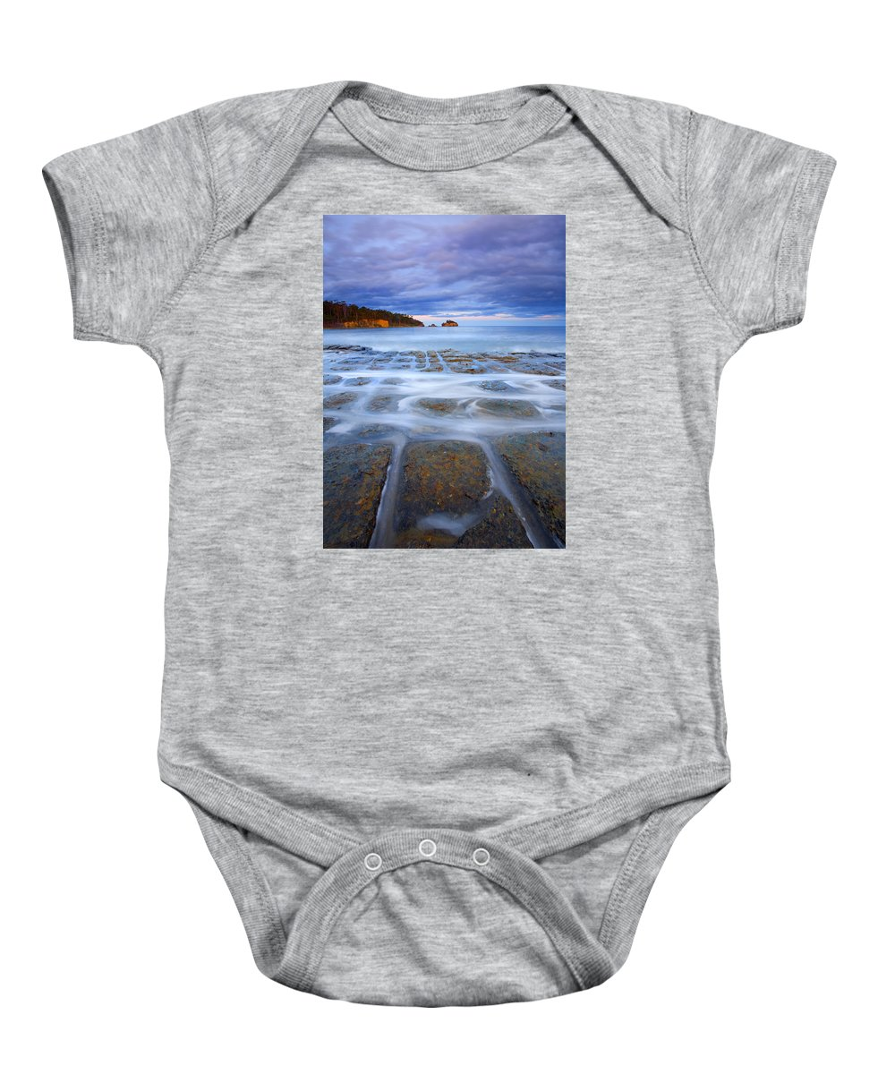 Sunset Baby Onesie featuring the photograph Tesselated Sunset by Mike Dawson