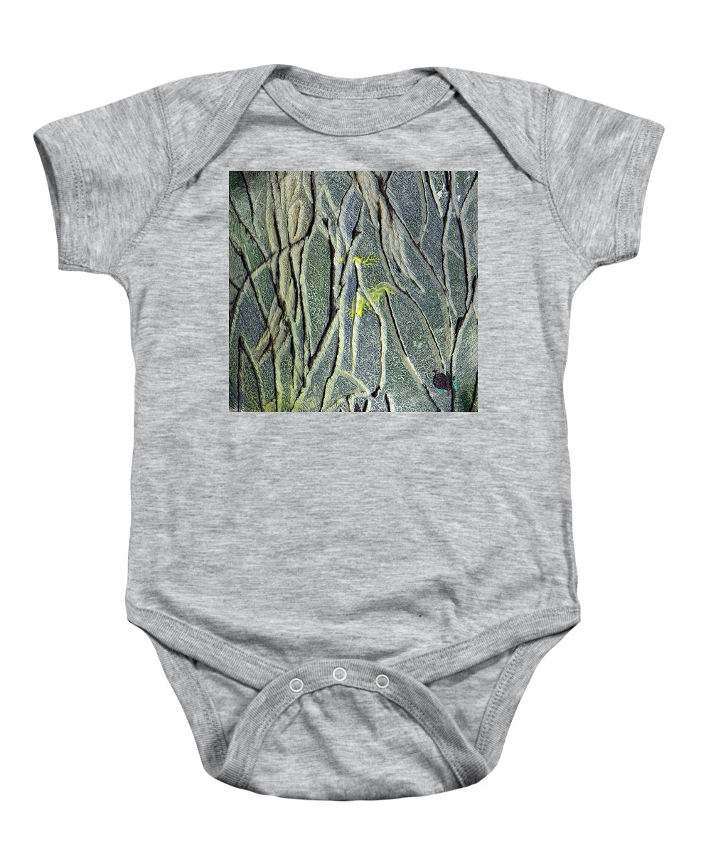 Abstract Baby Onesie featuring the painting Texture Study One  Entanglement by Wayne Potrafka