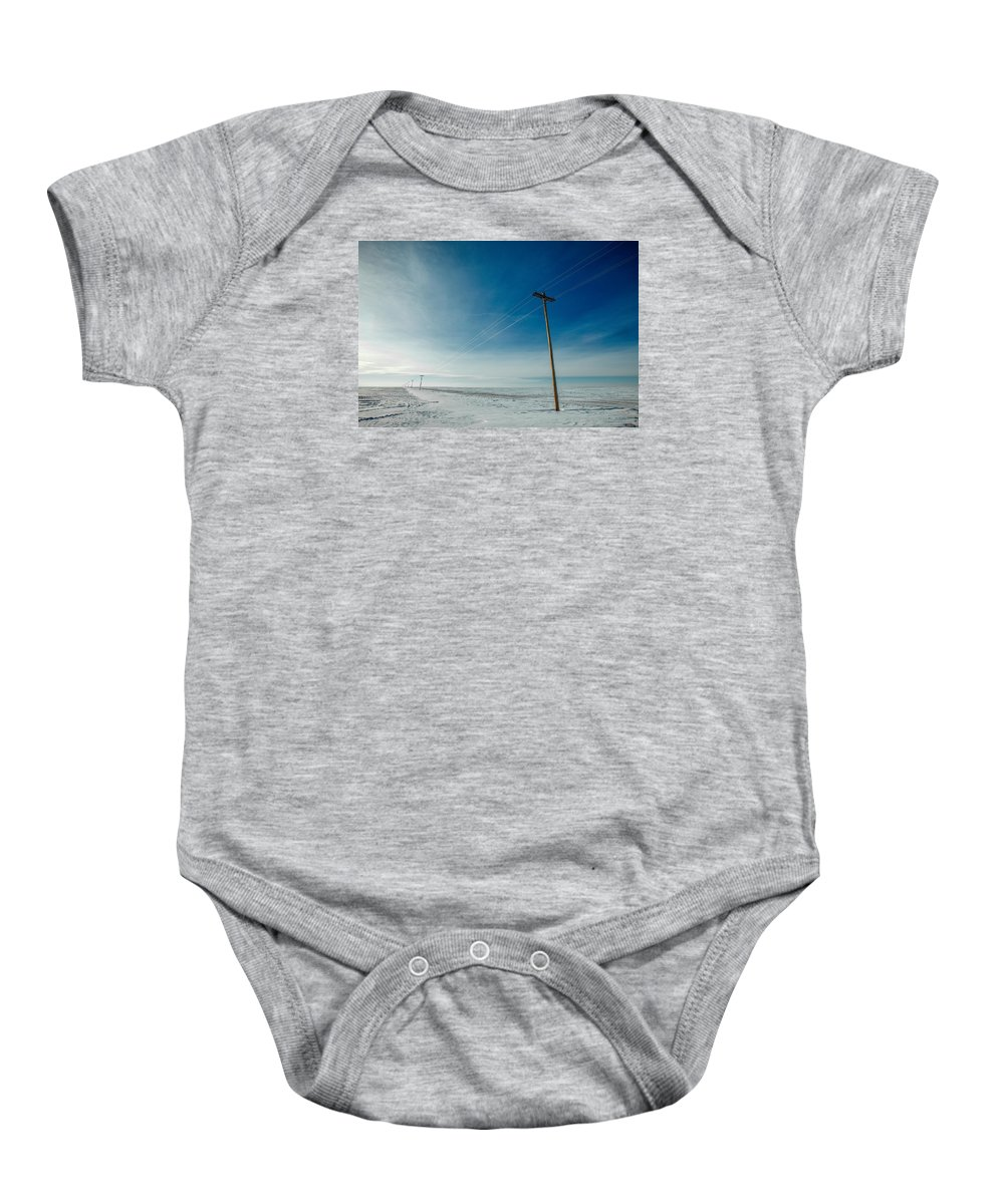 Kremlin Baby Onesie featuring the photograph That Stretch Down South by Todd Klassy