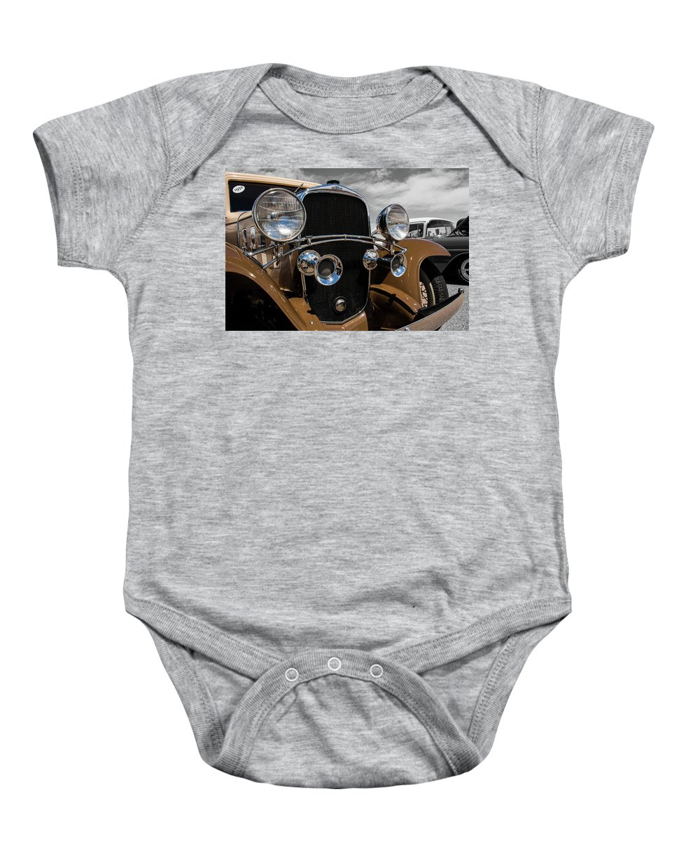 Classic Cars Baby Onesie featuring the photograph The 32 Chevy Confederate Deluxe by John Bartelt