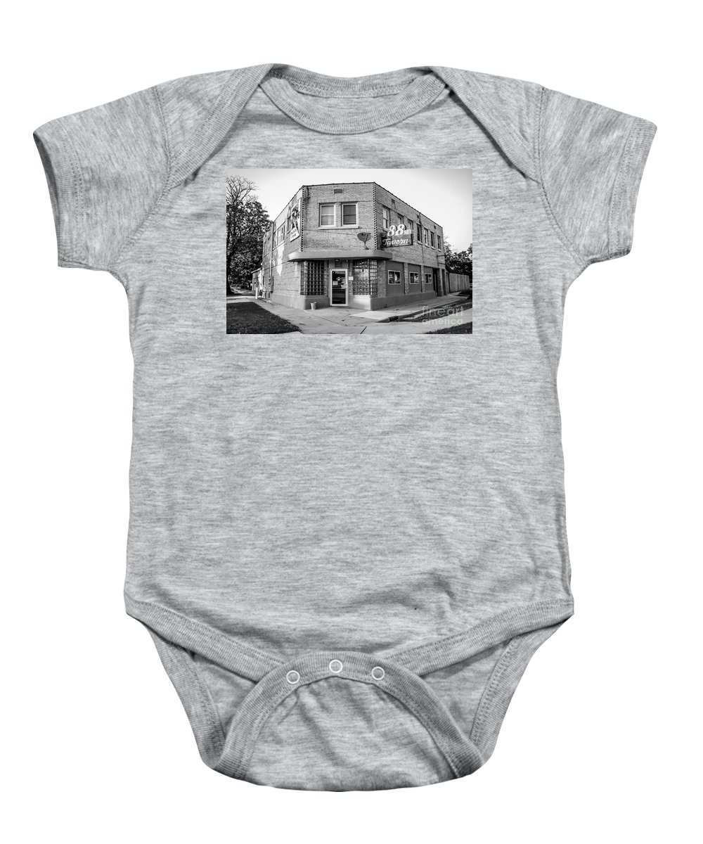 88 Baby Onesie featuring the photograph The 88 - Bw by Viviana Nadowski