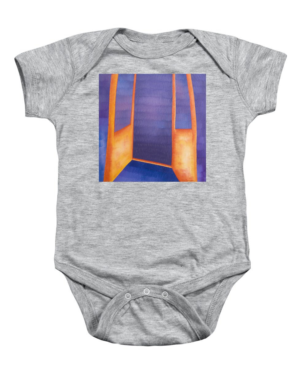Death Baby Onesie featuring the painting The Arrival by Judy Henninger