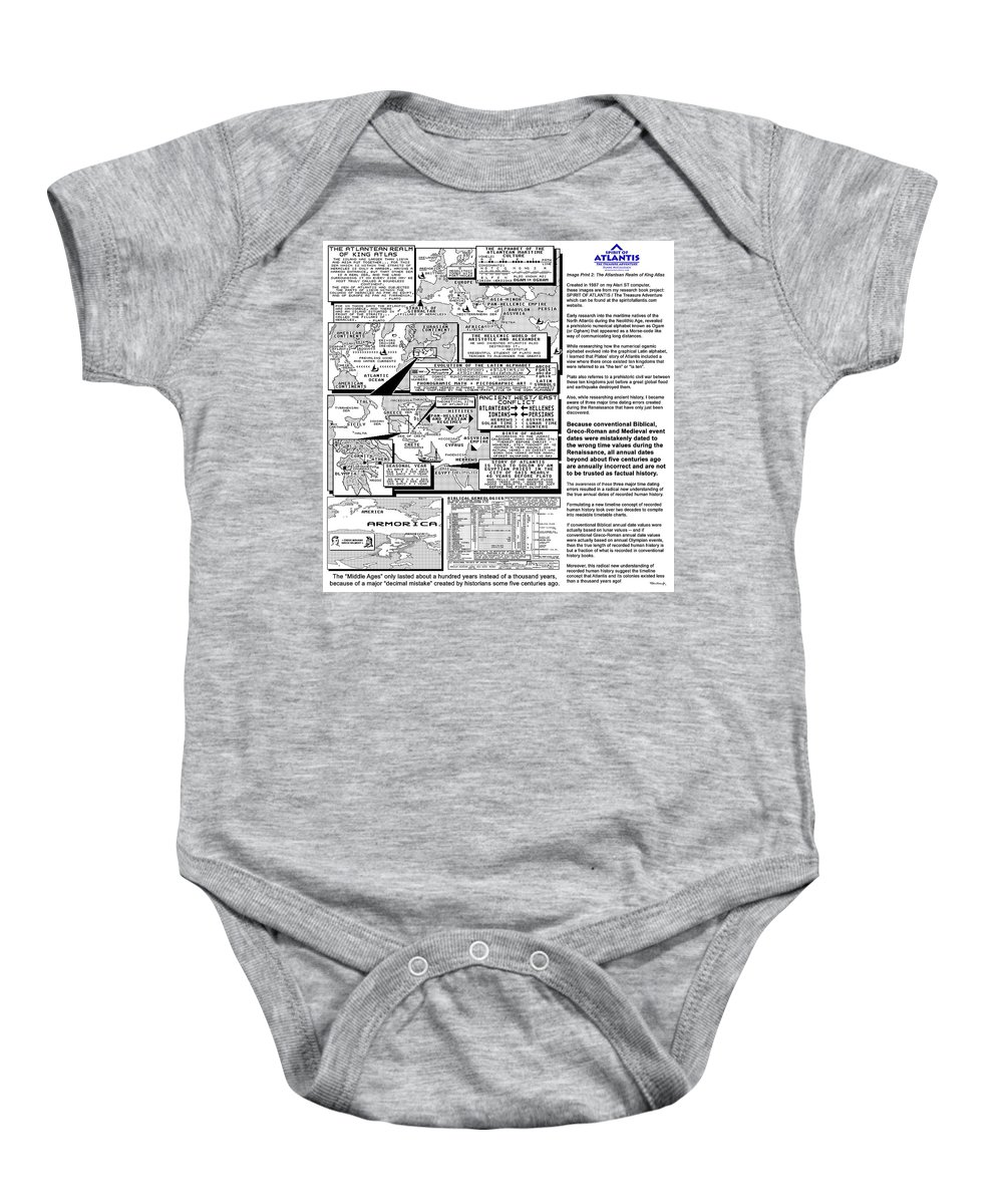 Duane Mccullough Baby Onesie featuring the photograph The Atlantean Realm Of King Atlas by Duane McCullough